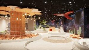 Tran sao nhan tao Sakura Montessori International School 1 300x169 - HÌNH ẢNH TRẦN SAO NHÂN TẠO